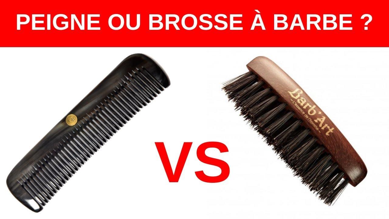 Peigne et brosse à barbe